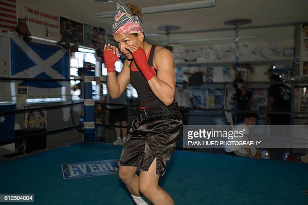 Lucia Rijker trains at the Wild Card boxing club in Los Angeles Callifornia Rijker nicknamed The Dutch Striker might be the most accomplished female...