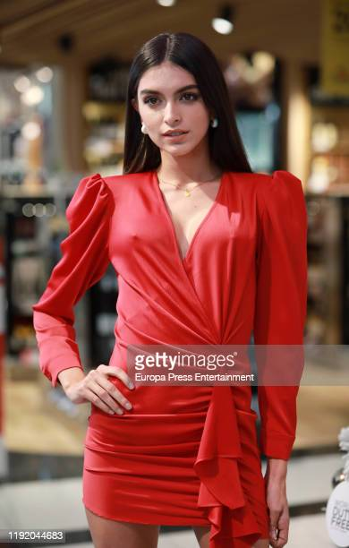 Lucia Rivera attends Christmas Duty Free event at at Adolfo Suarez MadridBarajas Airport on December 04 2019 in Madrid Spain