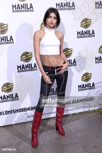 Lucia Rivera attends the Manila beer presentation at Equis club on April 19 2018 in Madrid Spain