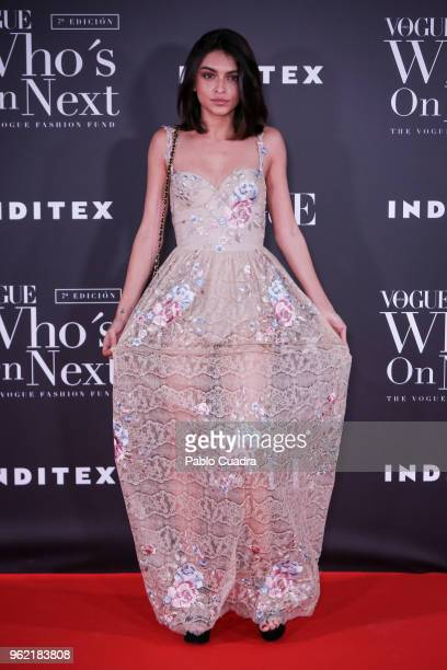 Lucia Rivera attends the 'Vogue Who's On Next' awards photocall at Fernan Nunez Palace on May 24 2018 in Madrid Spain