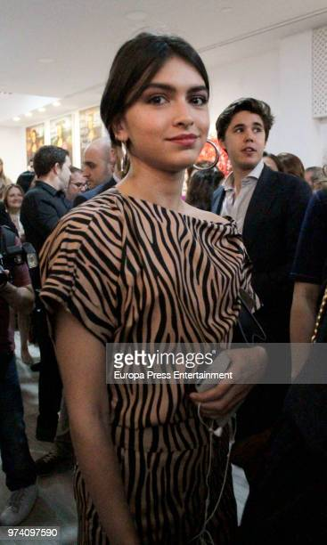 Lucia Rivera during the inauguration of the exhibition SMILE by Domingo Zapata and Alejandro Sanz on June 13 2018 in Madrid Spain