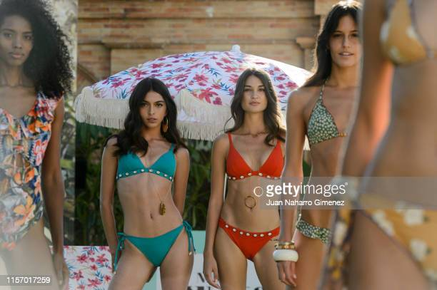 Lucia Rivera Estela Grande and Begoña Martin present Women'Secret New Summer Campaign on June 19 2019 in Madrid Spain