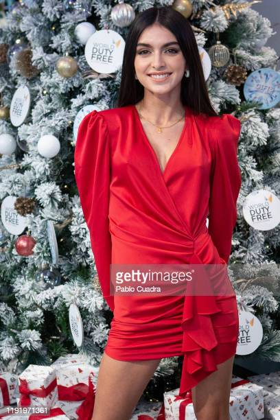 Lucia Rivera presents 'Duty Free' Christmas Campaign at Barajas Airport on December 04 2019 in Madrid Spain