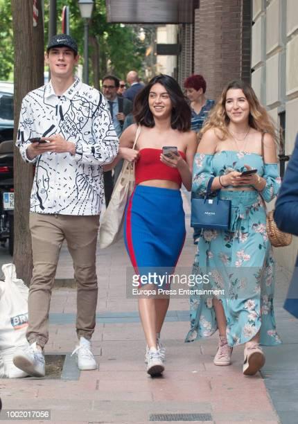 Lucia Rivera Romero and Alba Diaz are seen on June 13 2018 in Madrid Spain
