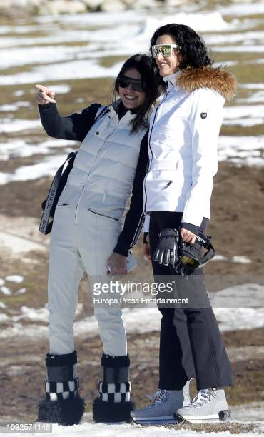 Lucia Rivera Romero and Blanca Romere are seen on December 7 2018 in Baqueira Beret Spain