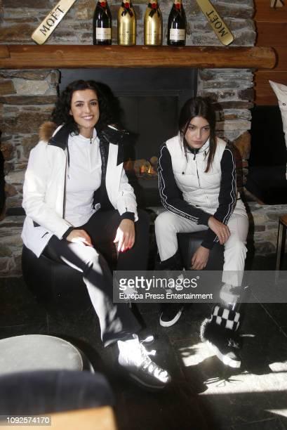 Lucia Rivera Romero and Blanca Romero are seen on December 7 2018 in Baqueira Beret Spain