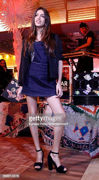 Lucia Rivera Romero attends the opening of a new PullBear store on December 3 2015 in Madrid Spain