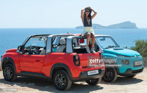 Lucia Rivera Romero presents the new Citroen EMehari on July 17 2018 in Ibiza Spain