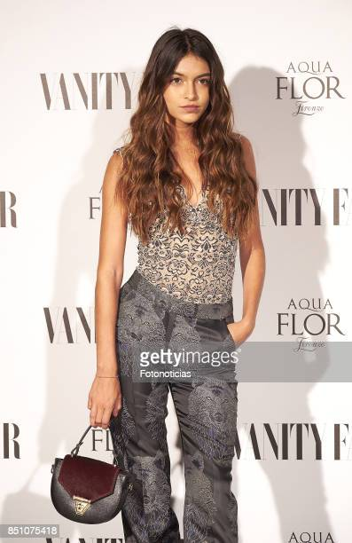 Lucia Romero Rivera attends the Vanity Fair cocktail at the Casino de Madrid on September 21 2017 in Madrid Spain