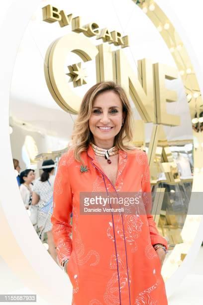 Lucia Silvestri attends the Bvlgari Hight Jewelry Exhibition on June 13, 2019 in Capri, Italy.