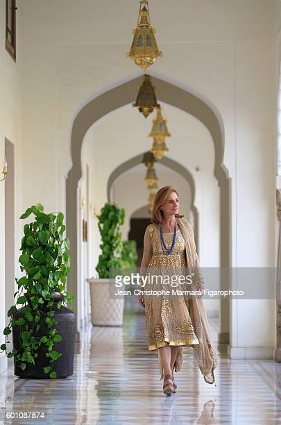 Lucia Silvestri creative director at Bulgari is photographed for Le Figaro on February 15 2016 in Jaipur India While in India Silvestri meets with...