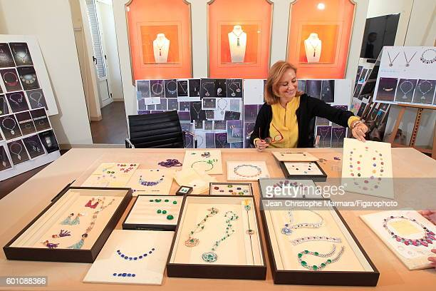 Lucia Silvestri creative director at Bulgari is photographed with Bulgari's new jewelry collection for Le Figaro on March 2 2016 in Rome Italy CREDIT...