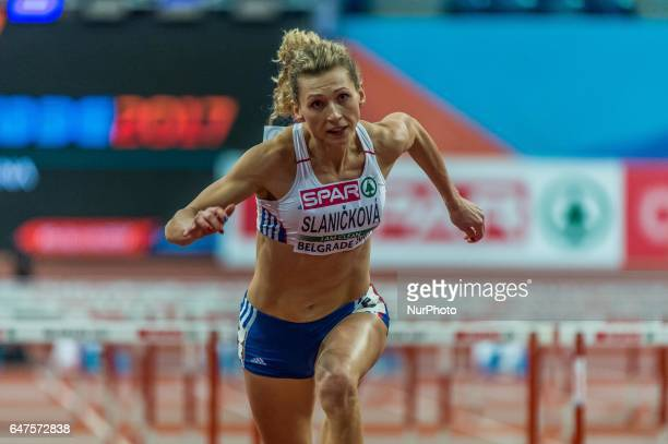 Lucia SlanikováSlovakia during 60 meter hurdles under Pentathlon at European athletics indoor championships in Belgrade on March 3 2017