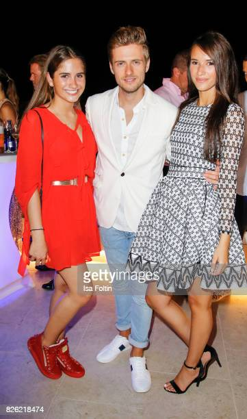 Lucia Strunz Joern Schloenvoigt and his girlfriend Hanna Weig during the Remus Lifestyle Night on August 3 2017 in Palma de Mallorca Spain