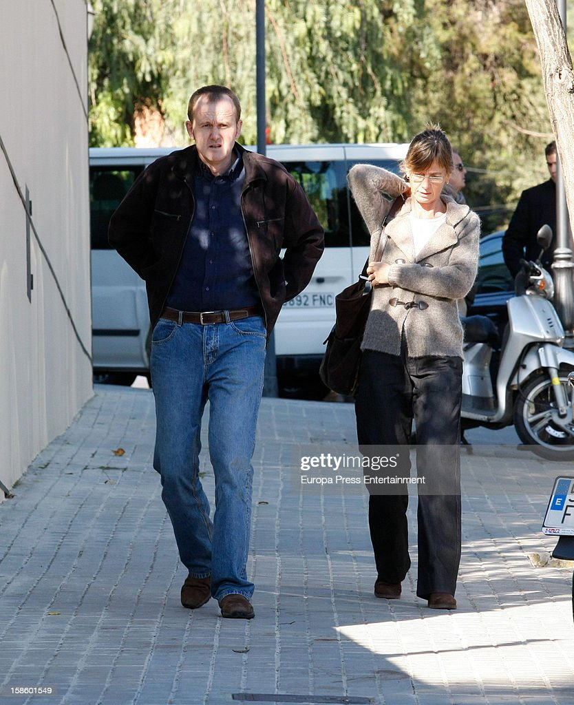 Lucia Urdangarin (R) attends the birthday party of her nephew Pablo Urdangarin, the son of Princess Cristina and Inaki Urdangarin on December 6, 2012 in Barcelona, Spain.