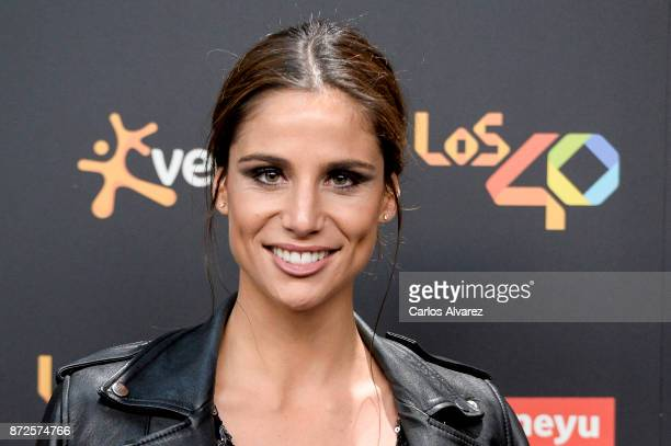 Lucia Villalon attends 'Los 40 Music Awards' photocall at WiZink Center on November 10 2017 in Madrid Spain