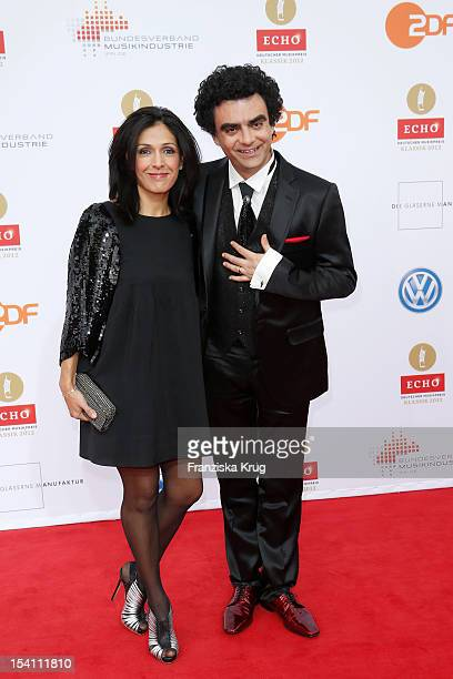 Lucia Villazon and Rolando Villazon arrive at the Echo Klassik 2012 award ceremony at Konzerthaus Berlin on October 14 2012 in Berlin Germany
