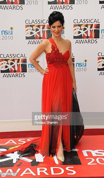Lucia Villazon attends the Classical BRIT Awards at Royal Albert Hall on May 13 2010 in London England