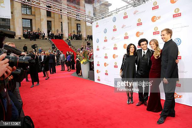 Lucia Villazon host Rolando Villazon host Nina Eichinger and Vasily Petrenko arrive at the Echo Klassik 2012 award ceremony at Konzerthaus Berlin on...