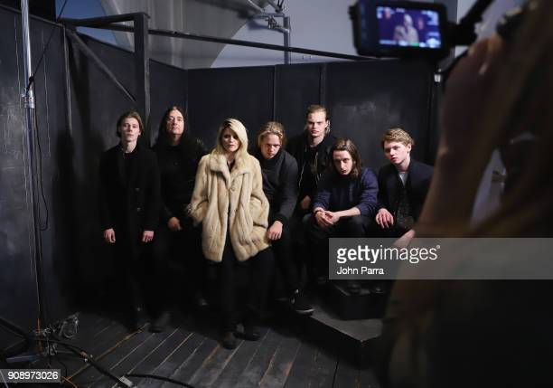 Lucian Charles Collier Jonas Akerlund Sky Ferreira Valter Skarsgard Rory Culkin and cast and crew of 'Lords of Chaos' attend The Hollywood Reporter...