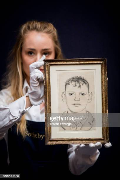 Lucian Freud's Boy on the Stairs goes on view as part of Sotheby's Contemporary Impressionist New York TRAVEX highlights preview at Sotheby's on...