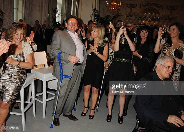 Lucian Grainge and wife Caroline Grainge attend the Lucian Grainge VIP Party on June 15 2010 in London England