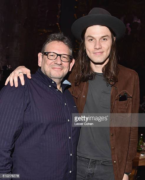 Lucian Grainge CBE Chairman and CEO of UMG and singer/songwriter James Bay attend Lucian Grainge's 2016 Artist Showcase Presented by American...