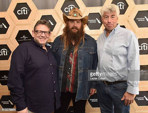 Lucian Grainge CBE Chairman and CEO of UMG musician Chiris Stapleton and Coran Capshaw attend Lucian Grainge's 2016 Artist Showcase Presented by...