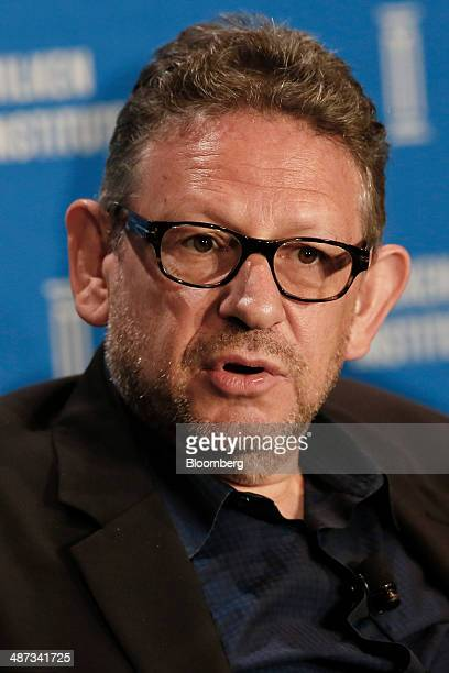 Lucian Grainge chairman and chief executive officer of Universal Music Group Inc speaks at the annual Milken Institute Global Conference in Beverly...