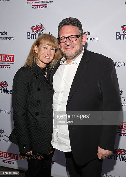 Lucian Grainge Universal Music Group CEO and Caroline Grainge attend The 2015 BritWeek UKTI Business Innovation Awards at the Four Seasons Hotel Los...