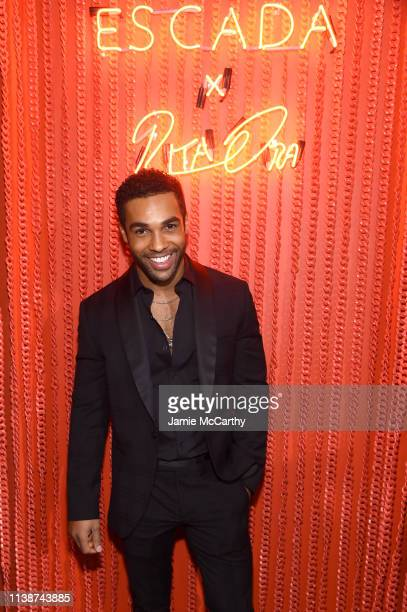 Lucian Laviscount attends the launch of the ESCADA Heartbag by Rita Ora on March 27 2019 in New York City