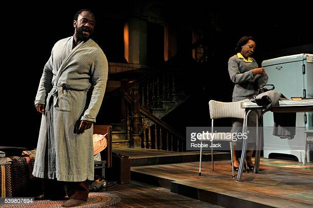 Lucian Msamati as Luke and Marianne JeanBaptiste as Margaret Alexander in James Baldwin's The Amen Corner directed by Rufus Norris at the National...