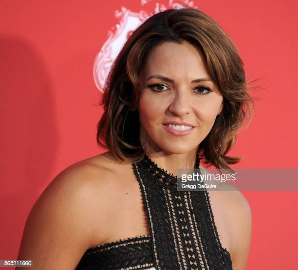 """Luciana Barroso arrives at the premiere of Paramount Pictures' """"Suburbicon"""" at Regency Village Theatre on October 22, 2017 in Westwood, California."""