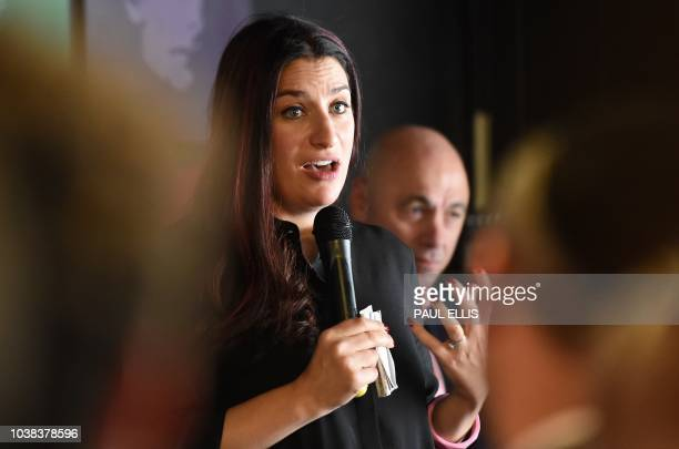 Luciana Berger Labour MP for Liverpool Wavertree and shadow Mental Health Minister speaks during a fringe event on the sidelines of the the Labour...