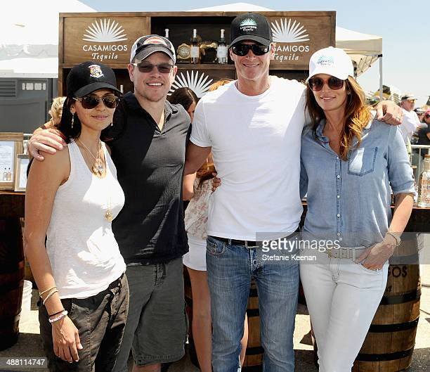 Luciana Damon actor Matt Damon Rande Gerber and model/actress Cindy Crawford attend The Horsemen Flight Team Event Hosted By Dan Friedkin And Lauren...