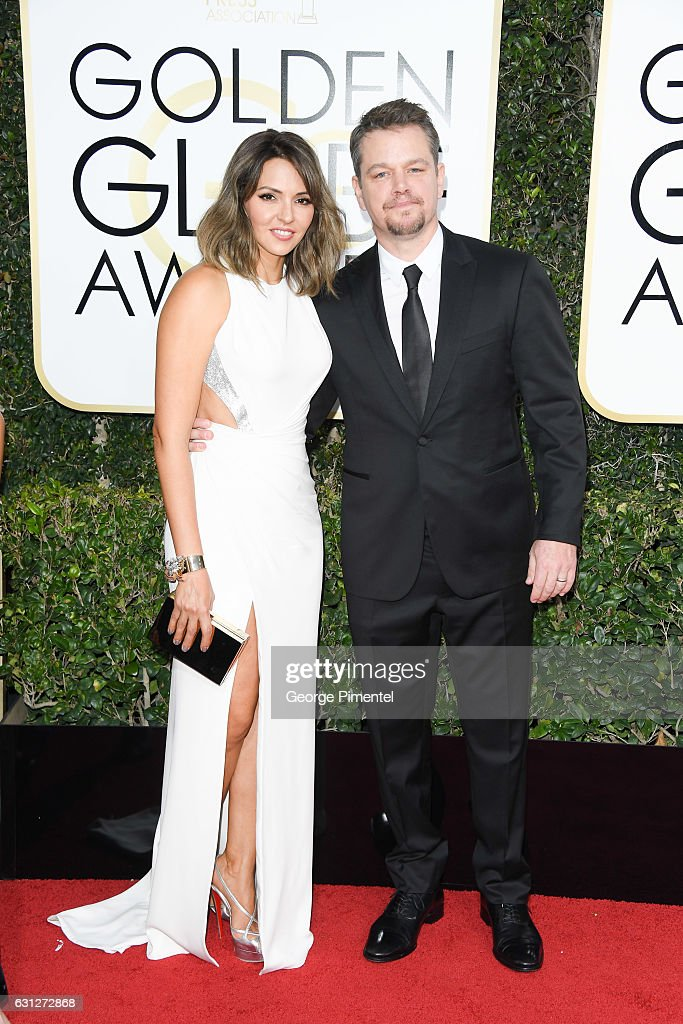 Luciana Damon and actor Matt Damon attend 74th Annual Golden Globe Awards held at The Beverly Hilton Hotel on January 8, 2017 in Beverly Hills, California.