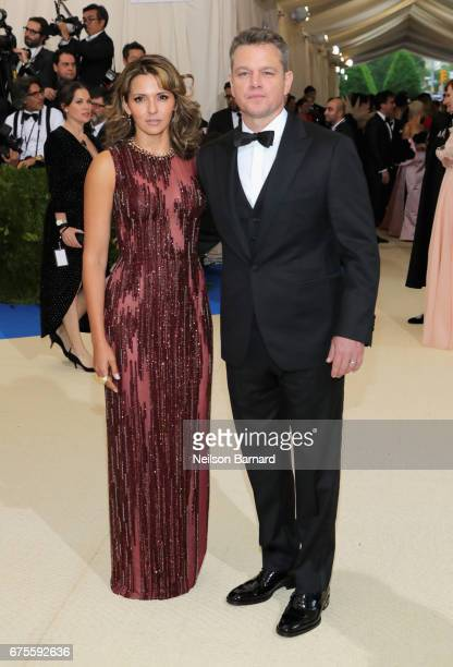Luciana Damon and Matt Damon attend the Rei Kawakubo/Comme des Garcons Art Of The InBetween Costume Institute Gala at Metropolitan Museum of Art on...