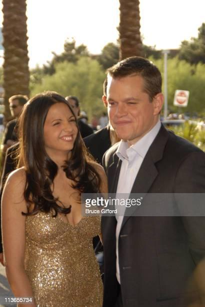 "Luciana Damon and Matt Damon during CineVegas Film Festival Opening Night - Screening of ""Ocean's Thirteen"" - Arrivals at Palms Casino Resort in Las..."
