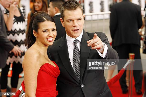 """Luciana Damon and Matt Damon during """"Ocean's Thirteen"""" Los Angeles Premiere - Premiere.com Arrivals at Grauman's Chinese Theater in Hollywood,..."""