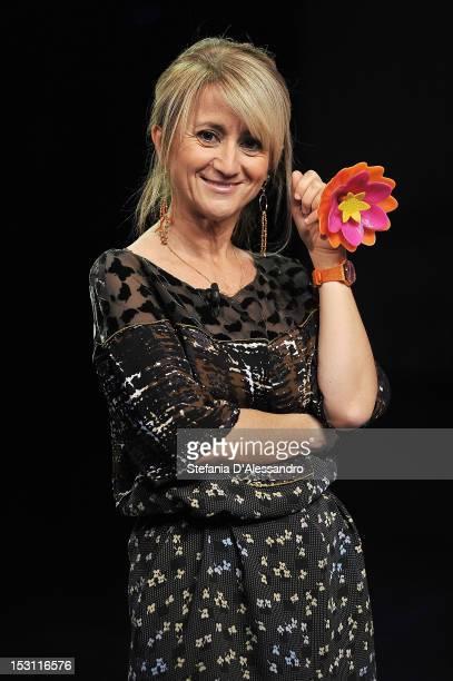 Luciana Littizzetto attends 'Che Tempo Che Fa' Italian TV Show held at Rai Studios on September 30 2012 in Milan Italy