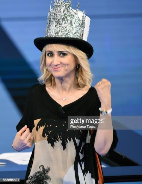 Luciana Littizzetto attends 'Che Tempo Che Fa' tv show on April 2 2017 in Milan Italy