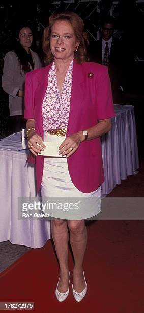 Luciana Paluzzi attends PreEmmy Awards Party on August 20 1991 at the Westwood Marquis Hotel in Westwood California