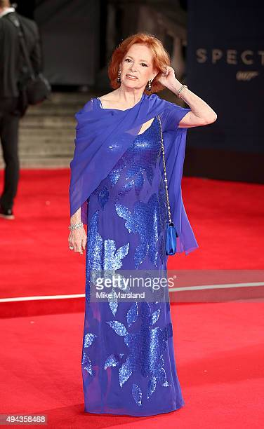 """Luciana Paluzzi attends the Royal Film Performance of """"Spectre"""" at Royal Albert Hall on October 26, 2015 in London, England."""