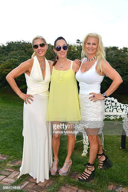 Luciana Pampalone Julie Teitel and Margo Manhattan attend an Exclusive Fashion Presentation of the Jackie Rogers 2016 Collection for All Seasons at a...