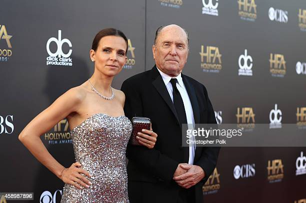 Luciana Pedraza and actor Robert Duvall attend the 18th Annual Hollywood Film Awards at The Palladium on November 14 2014 in Hollywood California