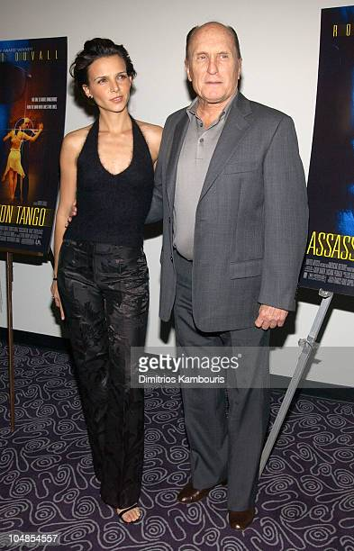 Luciana Pedraza and Robert Duvall during Assassination Tango Premiere New York at The Angelika Film Center in New York City New York United States