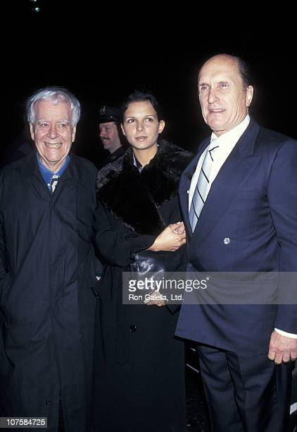 Luciana Pedraza Robert Duvall and guest during Opening Night Party for The Man From Atlanta at Tavern On The Green in New York City New York United...