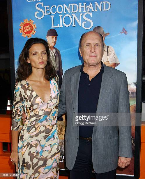 Luciana Pedraza Robert Duvall during Secondhand Lions Premiere at Mann National Theatre in Westwood California United States