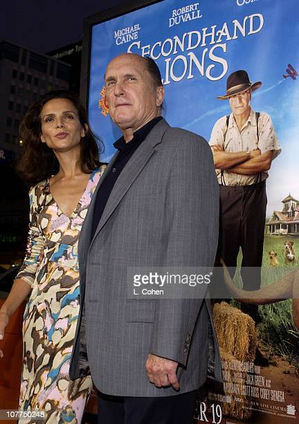 Luciana Pedraza Robert Duvall during Secondhand Lions Premiere Red Carpet at Mann National Theatre in Westwood California United States