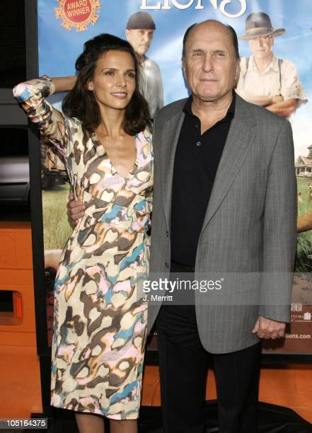 Luciana Pedraza Robert Duvall during The World Premiere Of Secondhand Lions at Mann National Theatre in Westwood California United States